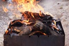 Charbons pour la cuisson Photos stock
