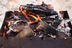 Charbons pour la cuisson Image stock