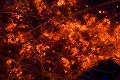 Charbons rougeoyants Image libre de droits