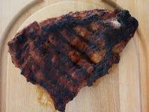 Charbroiled牛排 库存图片