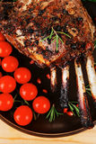 Charbroiled ribs on plate Stock Images