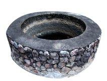 Charca antigua de la piedra y del cemento Fotografía de archivo libre de regalías