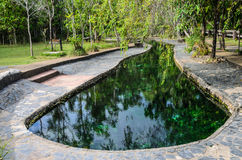 Charca de las aguas termales Fotos de archivo