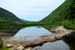 Charca de Maine Imagen de archivo libre de regalías