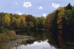 Charca de Sylvan, parque nacional del valle de Cuyahoga, Ohio los E.E.U.U. Fotos de archivo