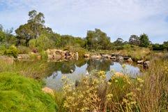 Charca del jardín en Amaze'n Margaret River imagenes de archivo