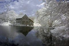Charca del molino de Yates, infrarroja Foto de archivo libre de regalías