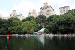 Charca del velero del Central Park Imágenes de archivo libres de regalías