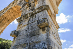 Charca Du Gard, Francia Fotos de archivo
