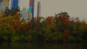 Charca en Central Park metrajes