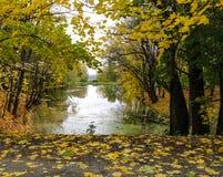 Charca en otoño Fotos de archivo