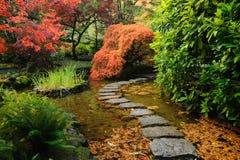 Charca japonesa del jardín Foto de archivo