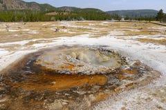Charca la termal del vapor Parque nacional de Yellowstone Fotos de archivo libres de regalías