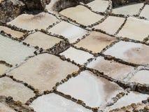 Charcas de la evaporación de la sal en Maras Imagen de archivo libre de regalías