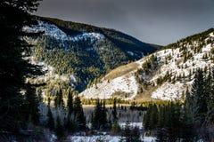 Charcas de Lorrett del soporte, área de la área silvestre del valle del arco, Alberta, Canadá Imagenes de archivo