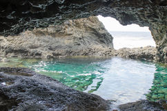 Charco Azul, Blue Pool, El Hierro. Stock Photography