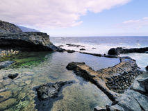 Charco Azul on Hierro. Charco Azul - Blue Pond on Hierro, Canary Islands, Spain Royalty Free Stock Images
