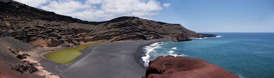 Charco de los clicos, golfo del EL, Lanzarote Fotos de archivo