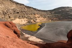 Charco de los Clicos, Lanzarote, Spain Stock Photography