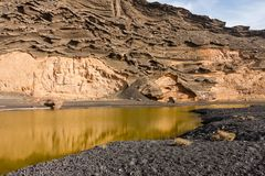 Charco de los Clicos, Lanzarote, Spain Royalty Free Stock Images