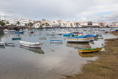 Charco de SAN Gines Arrecife, Κανάρια νησιά Στοκ Εικόνα