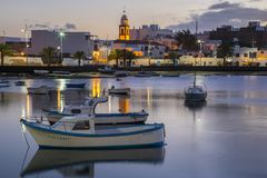 Charco de SAN Gines Arrecife Lanzarote Στοκ εικόνα με δικαίωμα ελεύθερης χρήσης