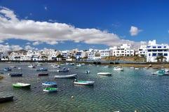 Charco DE San Gines, Arrecife, Lanzarote, Canarische Eilanden Stock Afbeeldingen