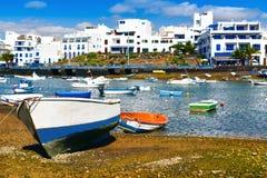 Charco DE San Gines, Arrecife, Lanzarote, Canarische Eilanden, Spanje royalty-vrije stock afbeelding