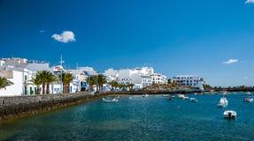 Charco de San Gines, Arrecife, Lanzarote, kanariefågelöar Fotografering för Bildbyråer