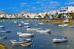 Charco DE San Gines, in Arrecife, Lanzarote, Spanje stock fotografie
