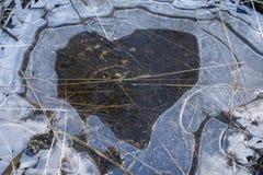 Charco del corazón Fotografía de archivo libre de regalías