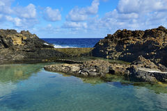 Charco del Palo in Lanzarote, Canary Islands, Spain. A view of the natural pools of seawater in Charco del Palo, Lanzarote, Canary Islands, Spain Royalty Free Stock Photos