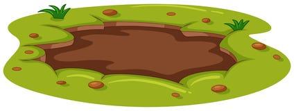 Charco fangoso en la tierra ilustración del vector