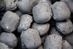 Charcoal. Close-up of charcoal - outdoor shot Royalty Free Stock Photo