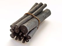 Charcoal. Sticks Royalty Free Stock Photos