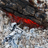 Charcoal and ash from fire Royalty Free Stock Images
