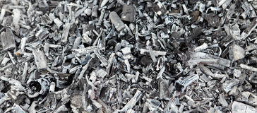 Charcoal ashes. Royalty Free Stock Photography