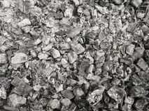 Charcoal and ashes Royalty Free Stock Photo
