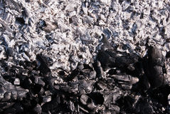 Charcoal ashes Stock Image