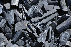 Charcoal background. Close up of charcoal background Royalty Free Stock Photography