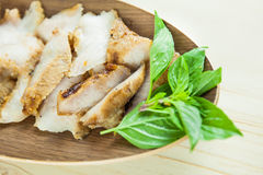 Charcoal-boiled grilled pork neck (Or Ko Mu Yang in Thai language). It's one of most popular foods in Thailand Royalty Free Stock Photography