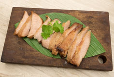 Charcoal-boiled pork neck,Grill pork Stock Photography