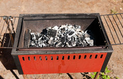 Charcoal brazier Stock Image