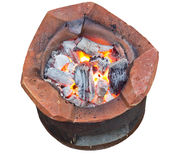 Charcoal brazier Royalty Free Stock Photos