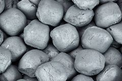 Charcoal Briquettes Background Texture Stock Photography