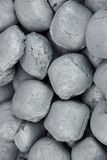 Charcoal Briquettes Background Texture Royalty Free Stock Photos