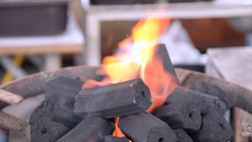 Charcoal burning stock video footage