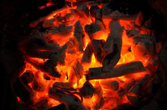 Charcoal burning Royalty Free Stock Photo