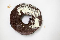 Charcoal Chocolate donut Stock Photo