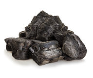 Charcoal close-up isolated Royalty Free Stock Photo
